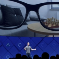 Facebook CEO Mark Zuckerberg speaks at his company's annual F8 developer conference on Tuesday, April 18, 2017, in San Jose, Calif. (AP Photo/Noah Berger)